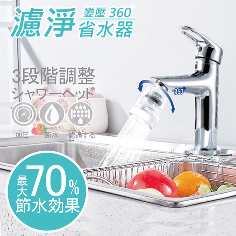 大組數用卡久!神膚奇肌360°變壓過濾省水加壓器,兩段變壓水流,三段變壓出水,四層多重過濾,省水高達50%!讓您洗菜、洗臉更安心不怕浪費太多水!可拆卸式設計,清洗更容易方便!輕鬆安裝,讓您的用水更有保