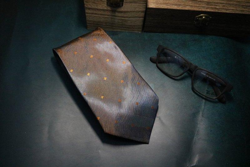 漸變小方塊真絲領帶型男提花商務necktie