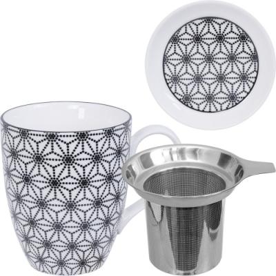《Tokyo Design》附蓋濾茶馬克杯(星點黑325ml)