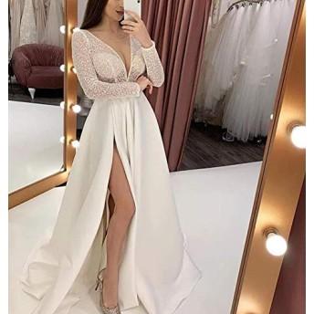 Kookaロングドレス 演奏会 イブニングドレス パーティードレス ブライズメイド ドレス キャバ シフォンロングドレス ウェディングドレス 結婚式 ドレス (XL)