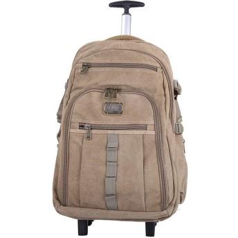ZLSANVD 男性と女性のビジネスパソコンのトラベルバックパックバッグ用18インチウィールドローリングバックパック