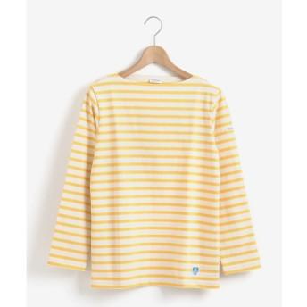 【ルクールブラン/le.coeur blanc】 ORCIVAL COTTON LOURD ボーダーTシャツ