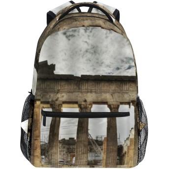 GUKISALA リュックサック、レトロなローマの古典建築風景、バックパック 男女兼用 アウトドア旅行バッグ オシャレ 可愛い 通勤 通学用 軽量 高校生