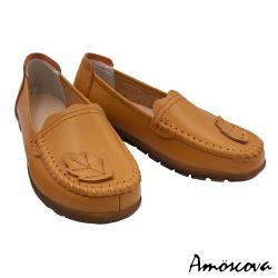 【Amoscova】手工真皮葉片裝飾休閒鞋1910