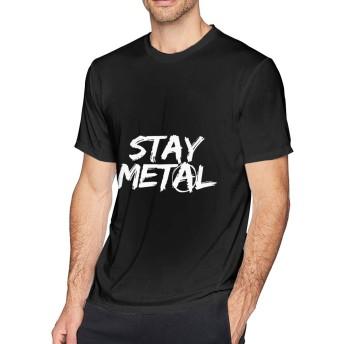 Stay Metal5 メンズソフト TシャツBlack 3XL