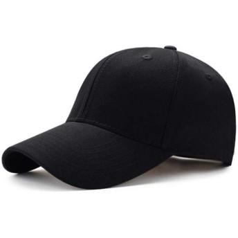 メンズ・レディース・平野曲面サンバイザー野球帽ハットソリッドカラーのファッションアジャスタブルキャップ (Color : Black)