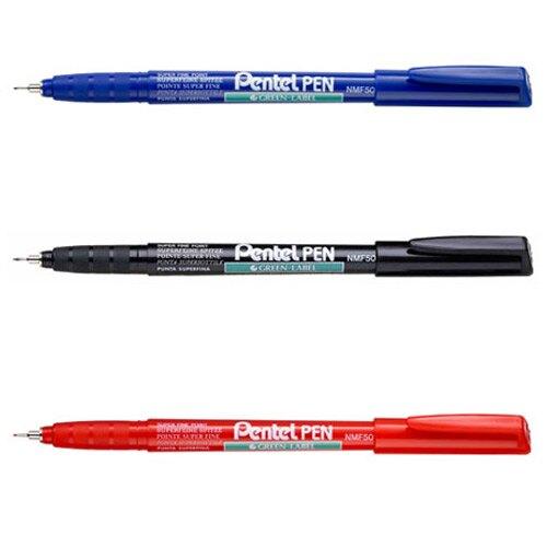 【史代新文具】飛龍牌Pentel NMF50 0.5mm 極細 環保油性筆(1盒12支)