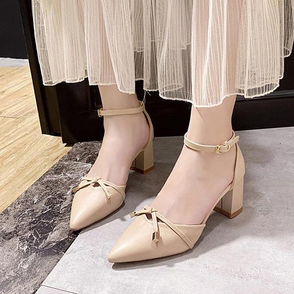 涼鞋女仙女風夏季新款粗跟高跟鞋 琪朵市集