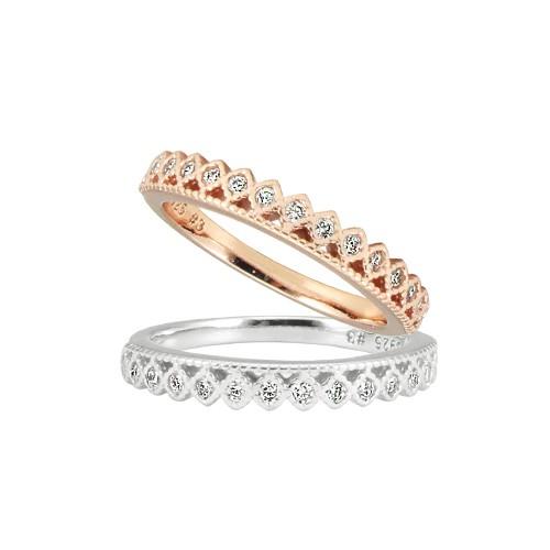 小安的店 925純銀 單排菱鑽戒指 銀飾飾品 情人禮物 RB-1131A-B