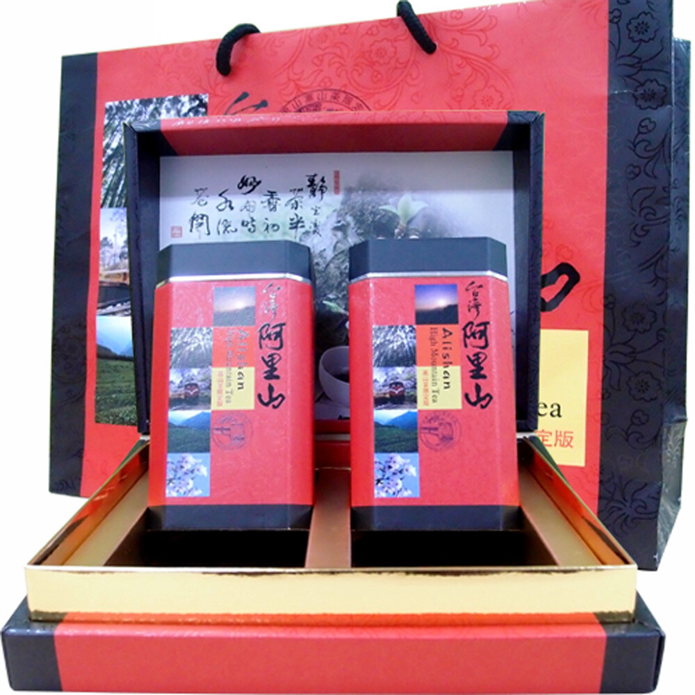 新造茗茶阿里山特級高山茶鴻運禮盒(300g*2罐)