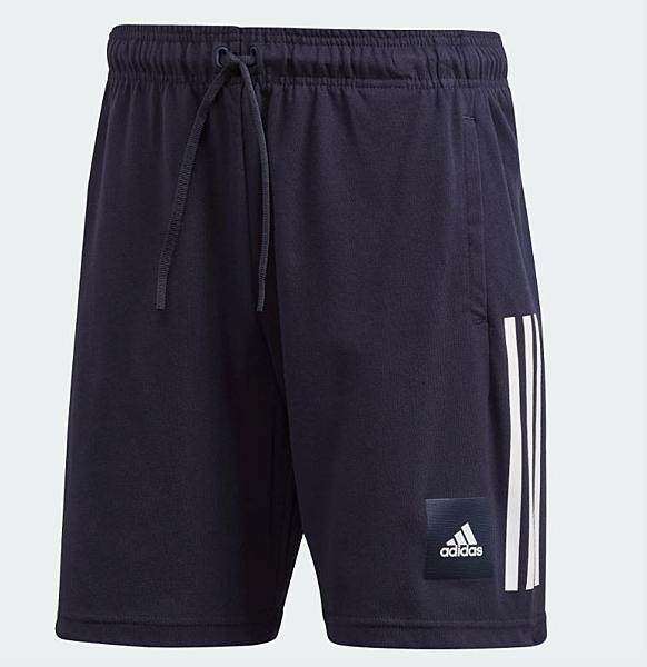 Adidas 男款深藍色運動短褲-NO.FQ7710