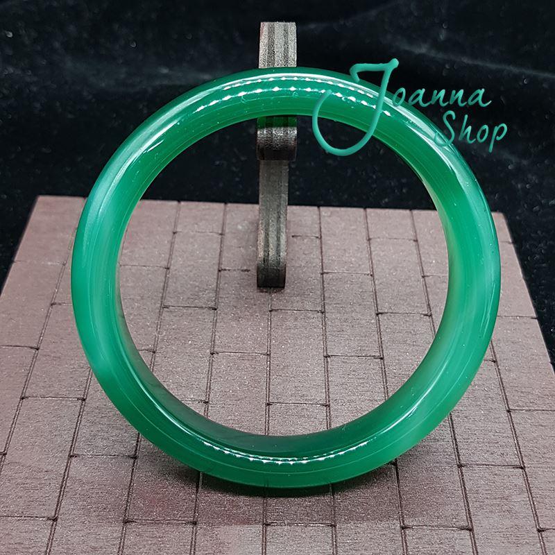 19.5圍天然冰種厚料綠玉髓瑪瑙手鐲 (面寬1.8-2cm )-Joanna Shop-69