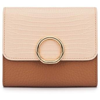 女性の財布 ショッピングのための女性の札入れの女性の短い札入れのクレジットカードの札入れの革札入れ レディースバッグ・財布 (色 : 褐色)