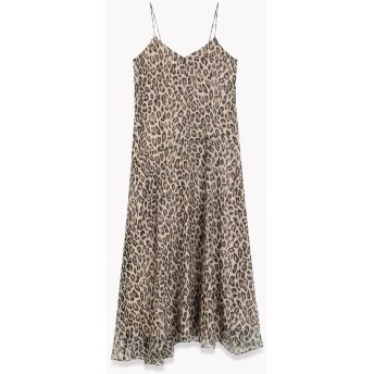 【Theory】一部店舗限定 Leopard Crinkle Cami Asym Maxi