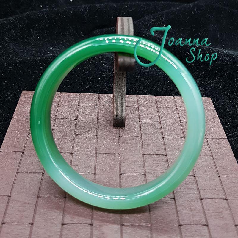 19.5圍天然冰種厚料綠玉髓瑪瑙手鐲 (面寬1.8-2cm )-Joanna Shop-43