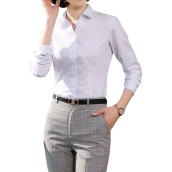 ブラウス オフィス おしゃれ 春物 事務服 着痩せ ブラウス 形態安定シャツ 立ち襟 カットソー プルオーバー 通勤 OL 通学 白シャツ トップス カジュアル