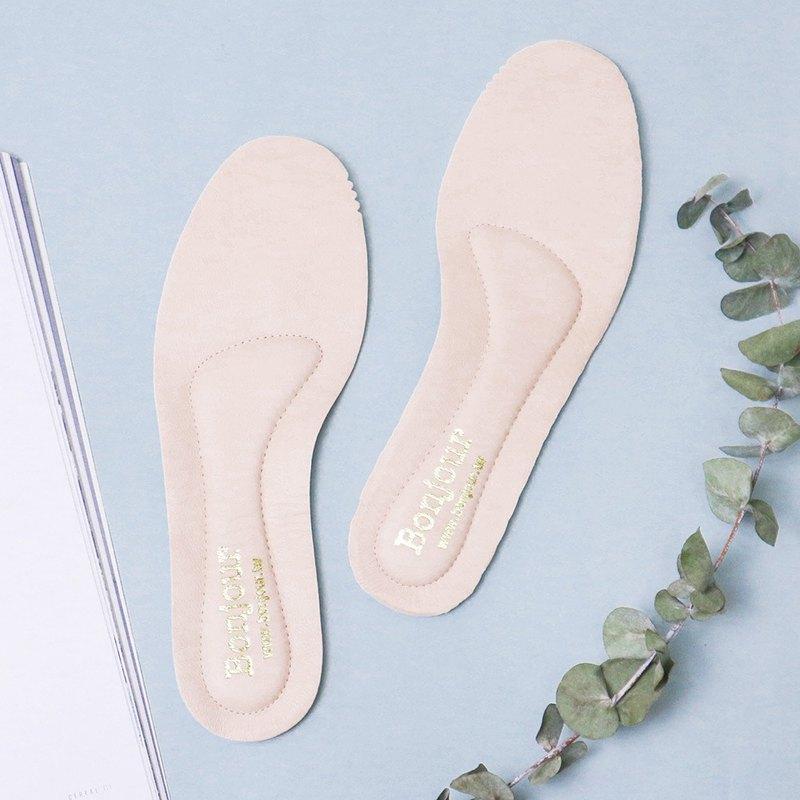 訂製款MIT夾心4mm乳膠腳弓真皮鞋墊
