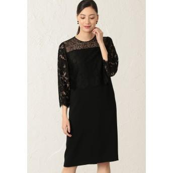 EPOCA フィオーレリバーレース ドレス ワンピース,黒