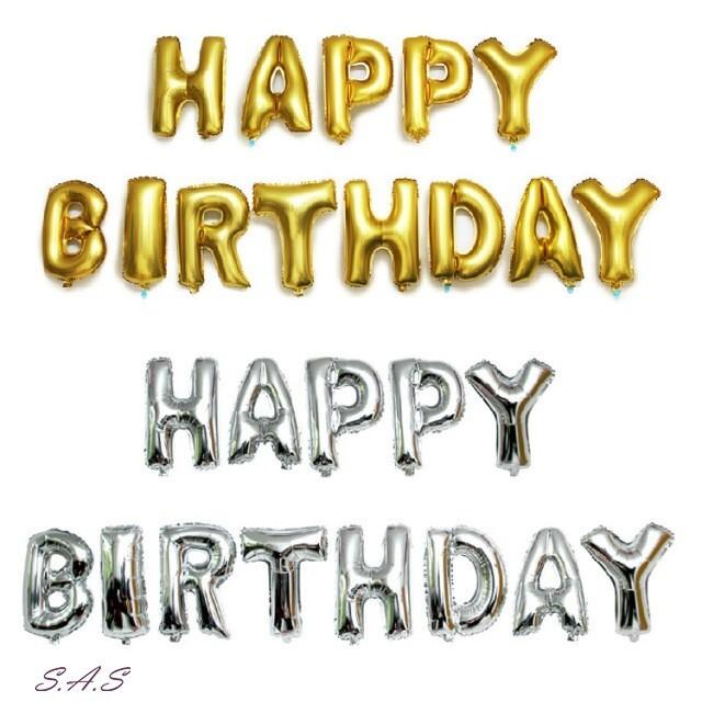 sas 生日快樂氣球字母 派對佈置 裝飾氣球 字母氣球 鋁箔膜氣球 651h