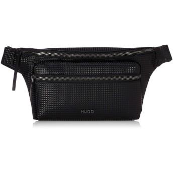 [ヒューゴ] ボディバッグ/ウエストポーチ エコレザー ダイアモンドパターン ベルトバッグ ONE SIZE ブラック