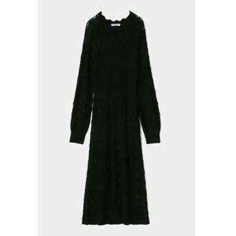 【MOUSSY:ワンピース】GEOMETRIC PATTERN ニット ドレス