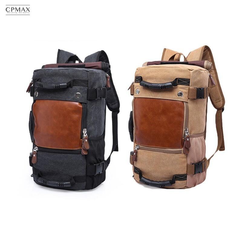 cpmax 文藝復古背包 大容量多夾層好收納  帆布手提包 o48