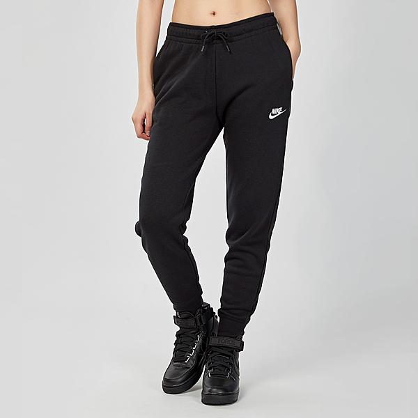 Nike Sportswear Essential 女子 黑色 刷毛 抽繩 運動 休閒 縮口 棉褲 長褲 BV4096-010