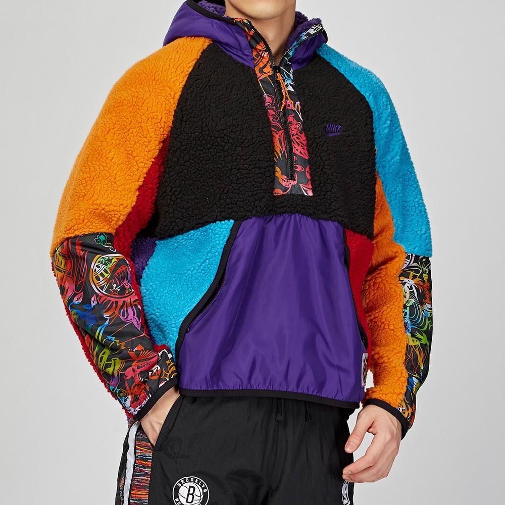 Nike Hoodie 男子 彩色 拼接 鼠年限定 半開襟 長袖 上衣 CU3672-546