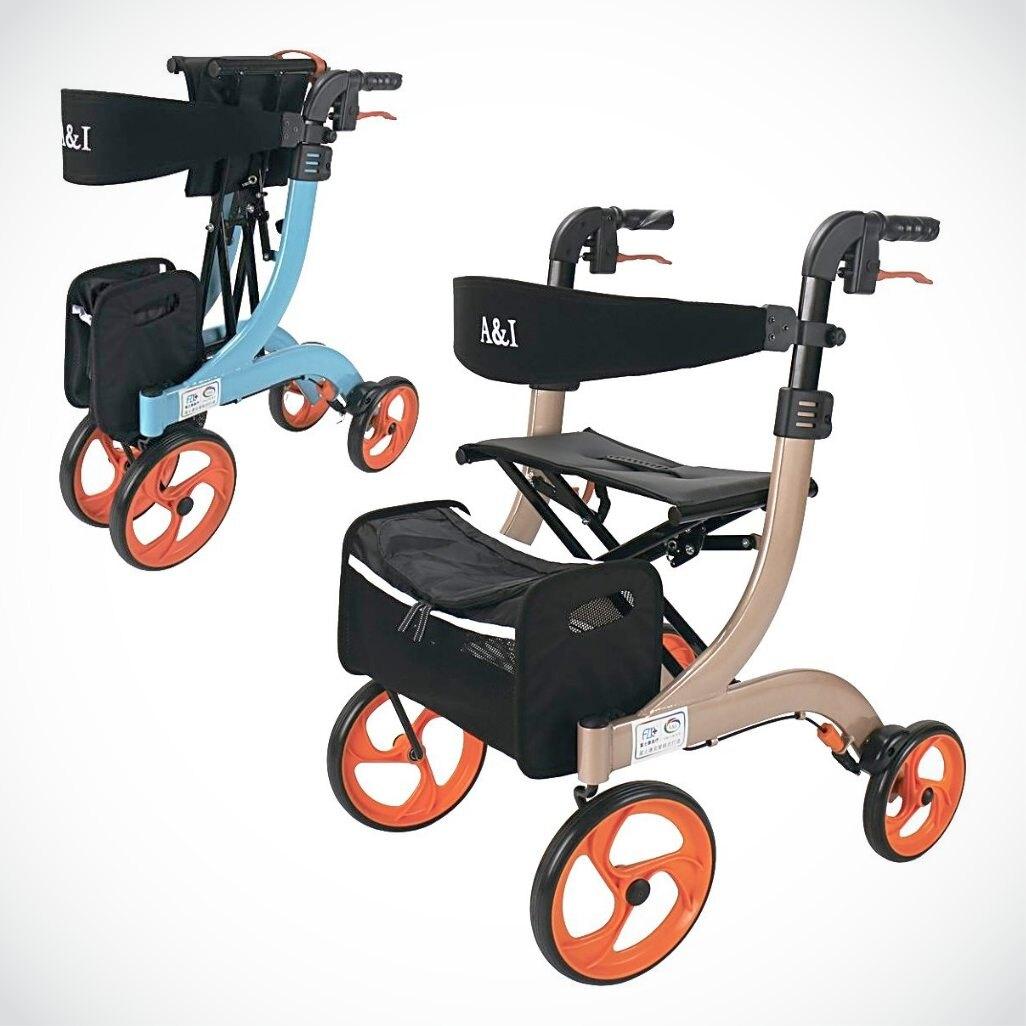 來而康 FZK-3104 折疊站立四輪車 助步車 散步車