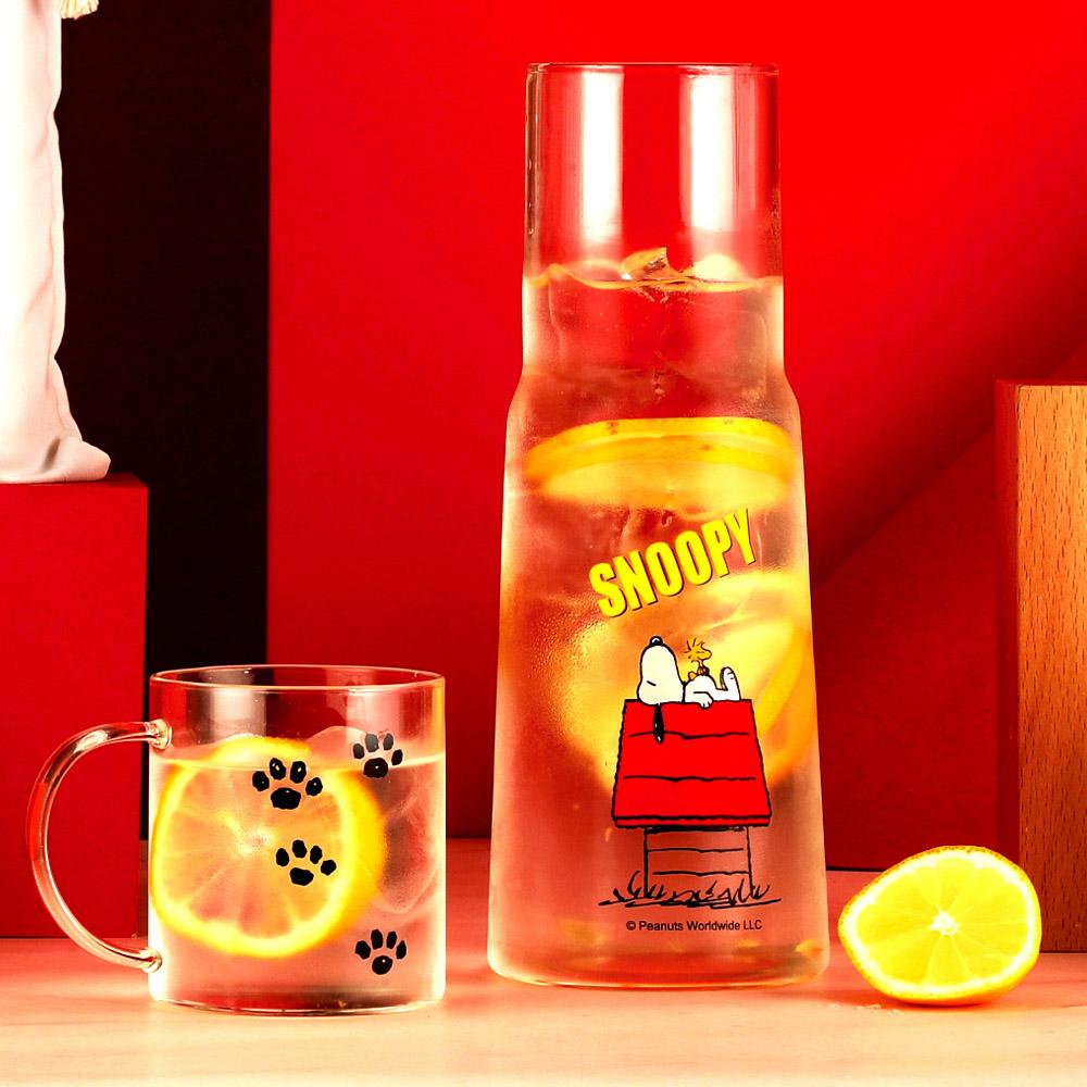 [Snoopy 史努比] 耐熱玻璃杯壺套組