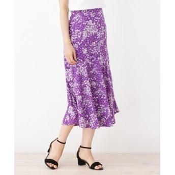 【ITS'DEMO:スカート】小花柄マーメイドスカート