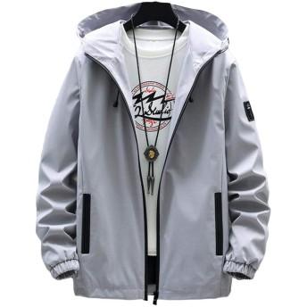 (BaLuoTe)メンズ 春 秋 コート ジャケット 長袖 メンズ ブルゾン メンズ ジャンパー カジュアル かっこいい ファッション シンプル 通勤 通学 コート アウトドアグレーT4