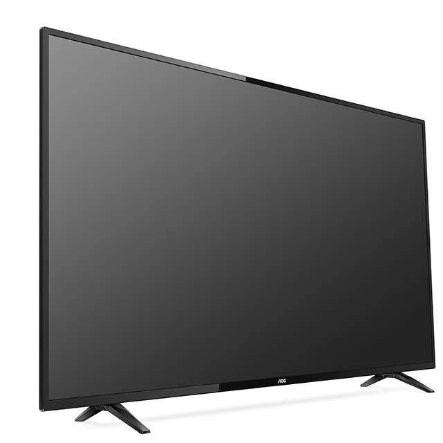 [限時破盤免萬]美國AOC 50吋4K HDR聯網液晶顯示器+視訊盒50U6195