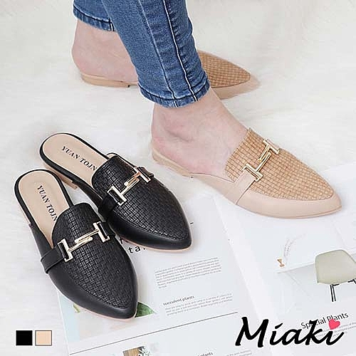 穆勒鞋-都會小資尖頭平底包鞋