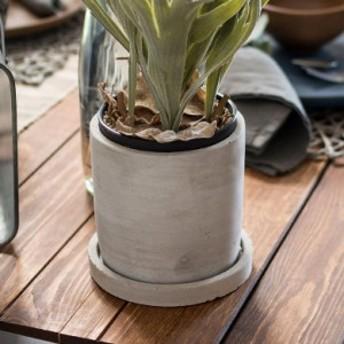 植木鉢 セメントポット 穴あり 4号サイズ 受け皿付き 直径12×高さ12cm 深型 プランターポッド フラワーポット 鉢カバー