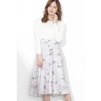 【JILL by JILL STUART:スカート】 美人百花 4月号掲載 ボカシフローラルスカート