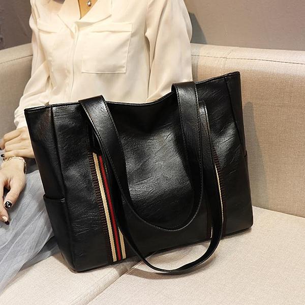 網紅新款潮大包包百搭時尚側背包手提包大容量媽媽包女包 全館鉅惠