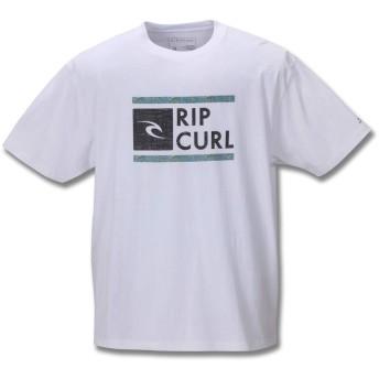 (リップカール) RIP CURL 大きいサイズ UNDERDRIVE SPACEY半袖Tシャツ 5L ホワイト