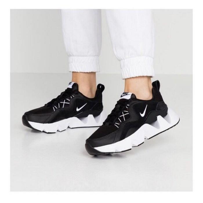 【日本海外代購】NIKE Ryz 365 黑白 黑色 老爹鞋 麂皮 鏤空 鋸齒 百搭 流行 厚底 運動鞋 休閒鞋 女鞋