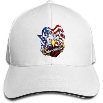 ハーレーダビッドソン キャップ 帽子 運動 野球帽 釣り 登山 遠足 旅行 スポーツ帽子 紫外線対策 無地 春 夏 秋 冬 スナップバックキャップ 男女兼用 White
