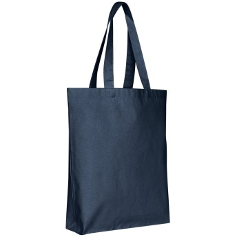 bagzdepot (パックof 12)空白キャンバス再利用可能なプレーンGrocery Promo Tote Bags with Bottom Gusset–15 W x 15 H x 3 D ブルー