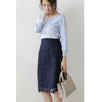 プロポーションボディドレッシング(PROPORTION BODY DRESSING)/◆リーフフラワーレースタイトスカート
