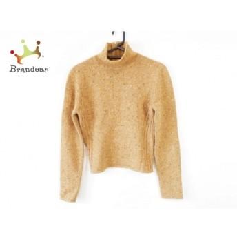 バレンチノ 長袖セーター サイズS レディース 美品 ライトブラウン×アイボリー×マルチ 新着 20200320