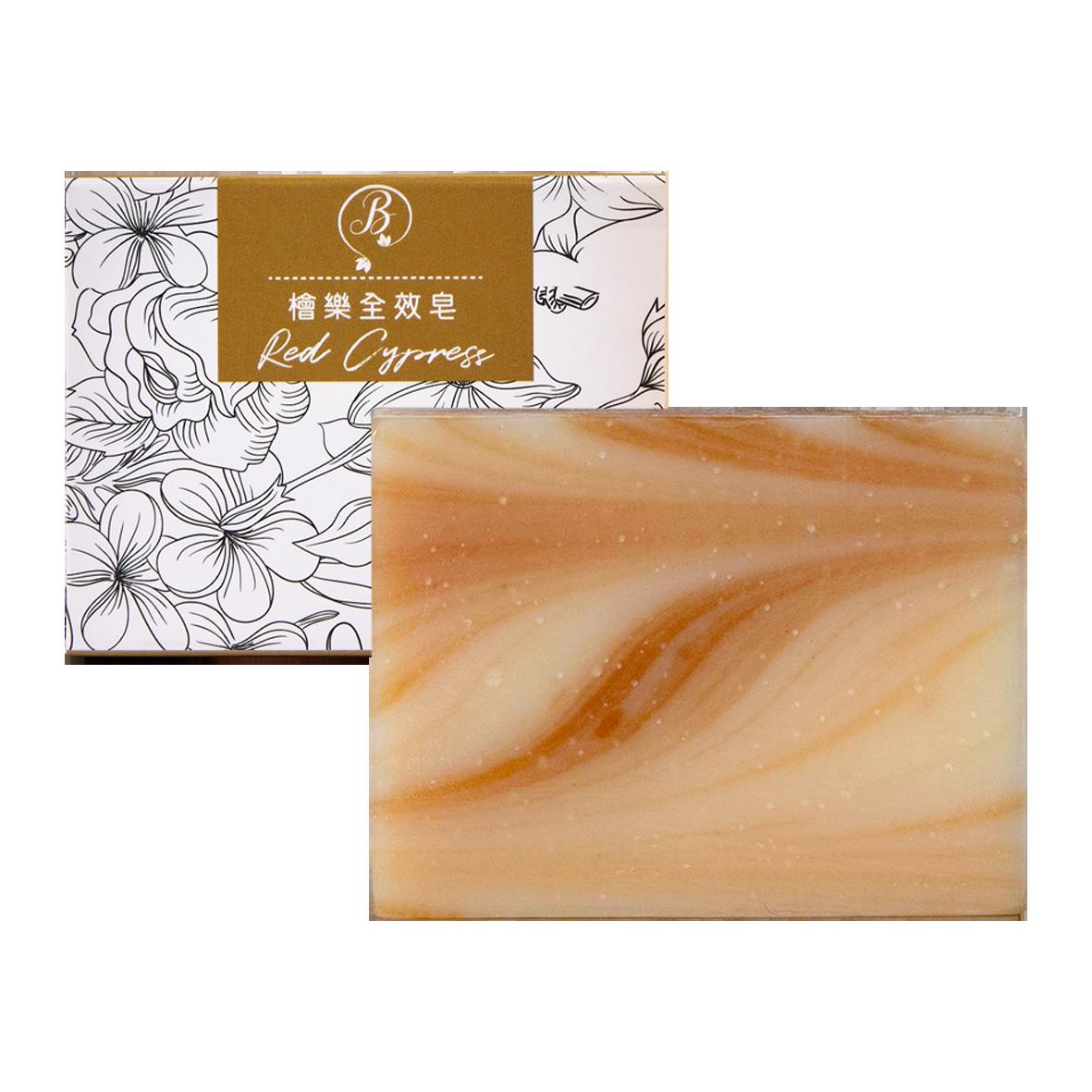 紫蝶美PB-II / 花草精油手工皂 檜木全效皂 100g