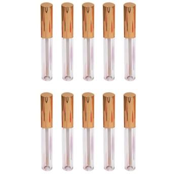 Pixnor 10個の空のリップグロスチューブ容器リップサンプル旅行分割充電diyメイクアップローズゴールド