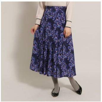 【アナトリエ/anatelier】 センターギャザーフラワースカート