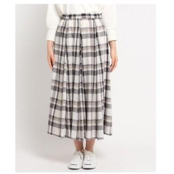 Dessin(Ladies)(デッサン(レディース))【XS〜Lサイズあり・洗える】ガーゼチェックスカート