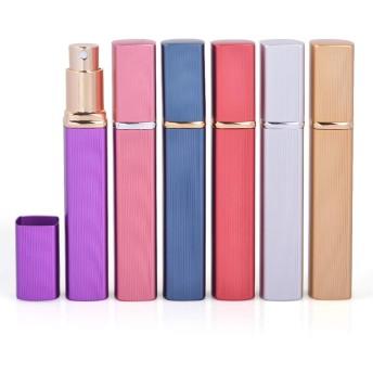 アトマイザー 香水 アトマイザー 詰め替え 携帯アトマイザー スクエアボトル 12ml 6色1セット
