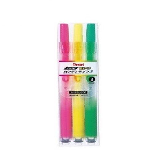 【史代新文具】飛龍牌Pentel SXNS15 自動螢光筆 3色組