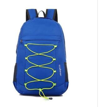 折りたたみショルダーバッグ男性超軽量カジュアル折りたたみバックパックレディースファッションスポーツアウトドアバッグ (Color : Blue)